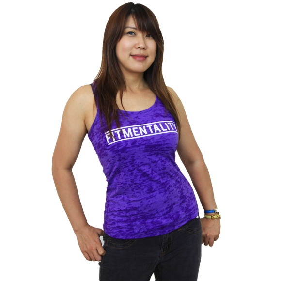 FM Purple Burnout Racerback Tank