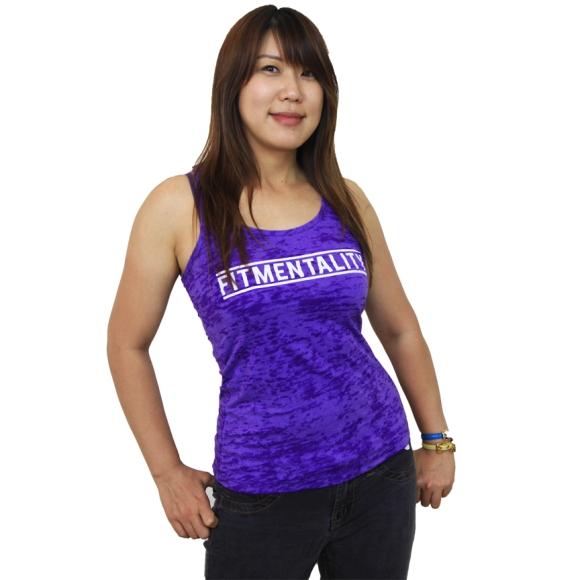 FM Purple Burnout Racerback Tank